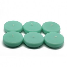 "2 1/4"" Aqua Floating Candles (96pcs/Case) Bulk"
