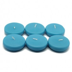 """2 1/4"""" Turquoise Floating Candles (24pc/Box)"""