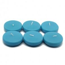 """2 1/4"""" Turquoise Floating Candles (96pcs/Case) Bulk"""