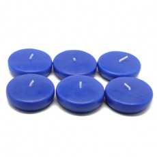 "2 1/4"" Royal Blue Floating Candles (24pc/Box)"