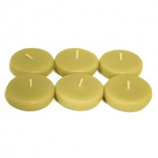 """2 1/4"""" Sage Green Floating Candles (24pc/Box)"""