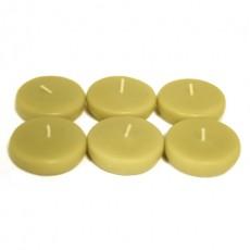 "2 1/4"" Sage Green Floating Candles (96pcs/Case) Bulk"