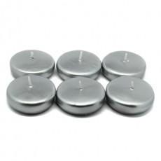 "2 1/4"" Metallic Silver Floating Candles (288pcs/Case) Bulk"