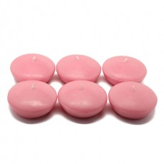 "3"" Pink Floating Candles (144pcs/Case) Bulk"