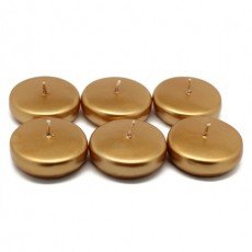 "2 1/4"" Metallic Bronze  Gold Floating Candles (24pc/Box)"