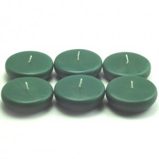 "2 1/4"" Hunter Green Floating Candles (24pc/Box)"