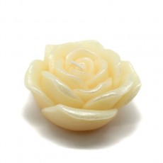 "3"" Ivory Rose Floating Candles (12pc/Box)"