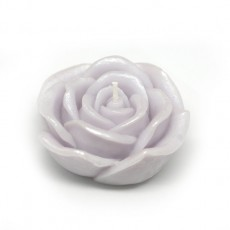 """3"""" Purple Rose Floating Candles (12pc/Box)"""