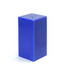 "3 x 6"" Blue Square Pillar Candle  (12pcs/Case) Bulk"