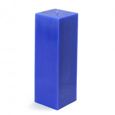 "3 x 9"" Blue Square Pillar Candle"