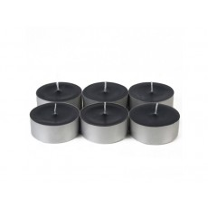 Mega Oversized Black Tealights (12pc/Box)