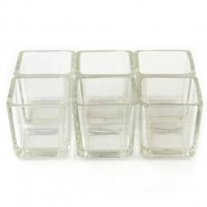 Square Glass Votive Holder (12pc/Box)
