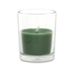 Hunter Green Round Glass Votive Candles (12pc/Box)