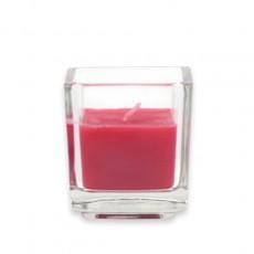 Red Square Glass Votive Candles (96pcs/Case) Bulk