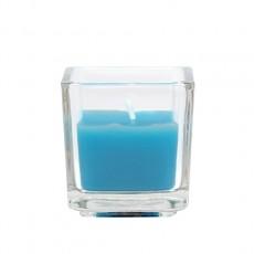 Turquoise Square Glass Votive Candles (96pcs/Case) Bulk