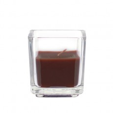 Brown Square Glass Votive Candles (12pc/Box)