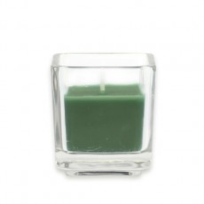Hunter Green Square Glass Votive Candles (12pc/Box)