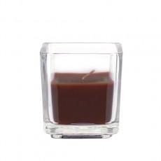 Brown Square Glass Votive Candles (96pcs/Case) Bulk
