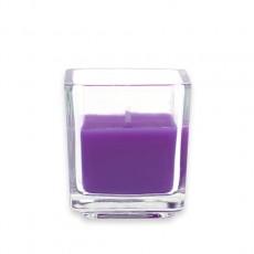 Purple Square Glass Votive Candles (96pcs/Case) Bulk