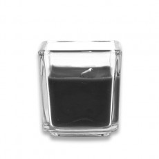 Black Square Glass Votive Candles (12pc/Box)